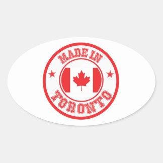 Sticker Ovale Fait à Toronto