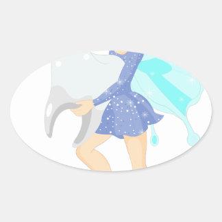 Sticker Ovale Fée de dent