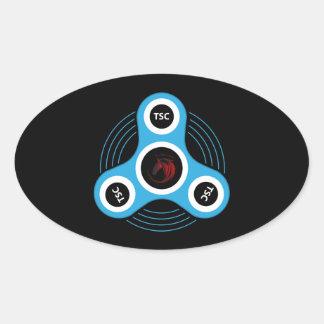 Sticker Ovale Fileur de personne remuante de centre technique