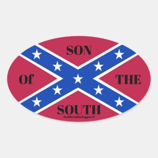Sticker Ovale fils de southernbuck de l'autocollant du sud