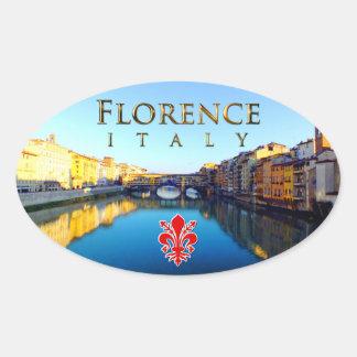 Sticker Ovale Florence - Ponte Vecchio