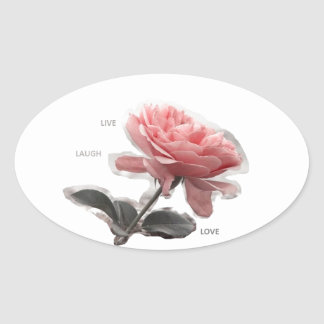 Sticker Ovale Flowerrs