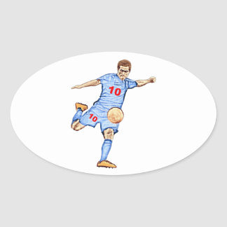 Sticker Ovale Football player - Joueur de football