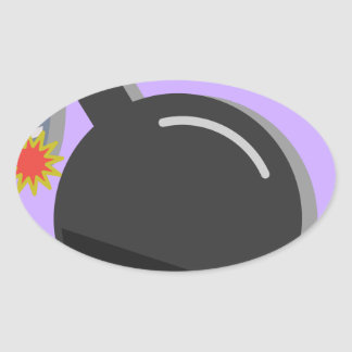 Sticker Ovale Fusée pour bombe