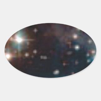 Sticker Ovale galaxie de manière laiteuse