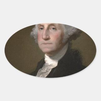 Sticker Ovale George Washington - portrait vintage d'art