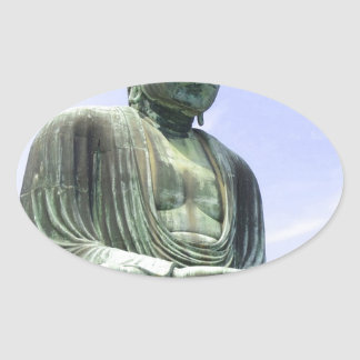 Sticker Ovale Grand Bouddha