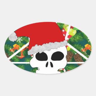 Sticker Ovale grêle père Noël
