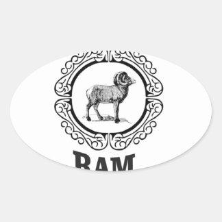 Sticker Ovale guerrier de RAM