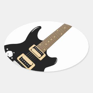 Sticker Ovale Guitare électrique