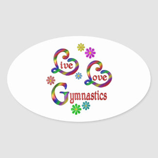 Sticker Ovale Gymnastique vivante d'amour