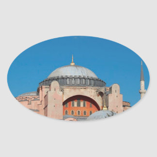 Sticker Ovale Hagia Sophia Turquie