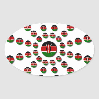 Sticker Ovale Hakuna Matata Kenya