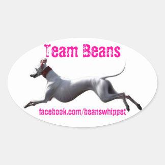 Sticker Ovale Haricots ovales d'équipe de décalque