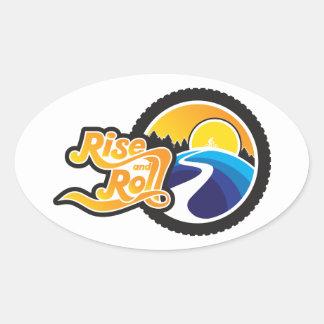 Sticker Ovale hausse et cycle de petit pain