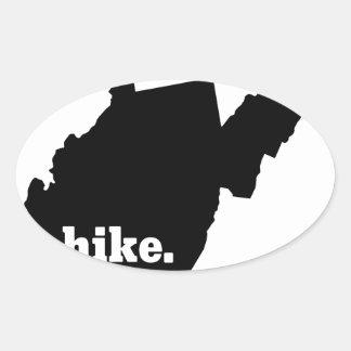 Sticker Ovale Hausse la Virginie Occidentale