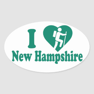 Sticker Ovale Hausse New Hampshire