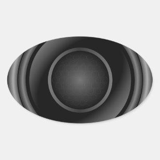 Sticker Ovale Haut-parleur bruyant
