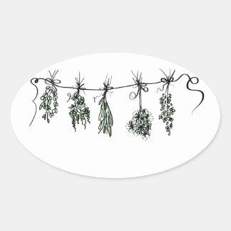 Sticker Ovale Herbes
