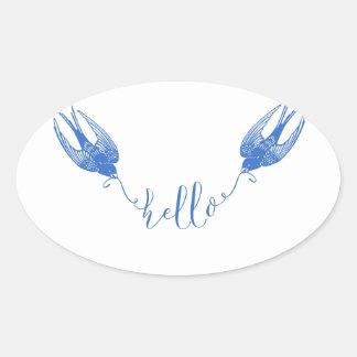 Sticker Ovale Hirondelle