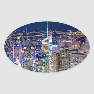 Sticker Ovale Horizon de New York City