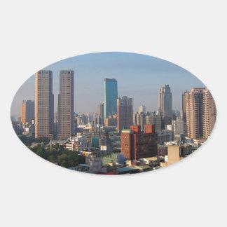 Sticker Ovale Horizon de Taïwan Taichung