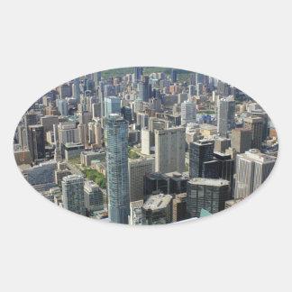 Sticker Ovale Horizon de ville de Toronto