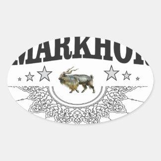 Sticker Ovale illustration de bête de zoo