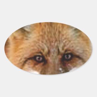 Sticker Ovale image de fantaisie de renard
