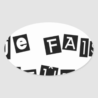 Sticker Ovale Je sais, je FAIS JEÛNE - Jeux de Mots