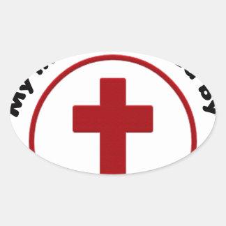 Sticker Ovale Jésus économise, T-shirt chrétien de cadeau de