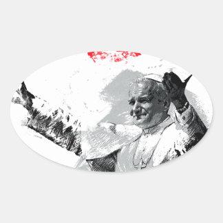 Sticker Ovale John Paul le deuxième