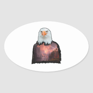 Sticker Ovale Joint du courageux