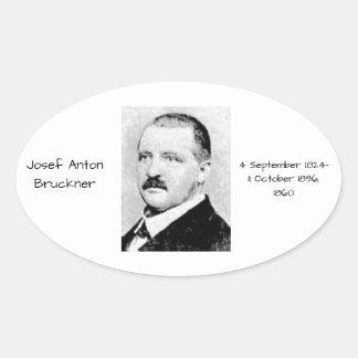 Sticker Ovale Josef Anton Bruckner 1860