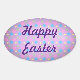 Sticker Ovale Joyeuses Pâques