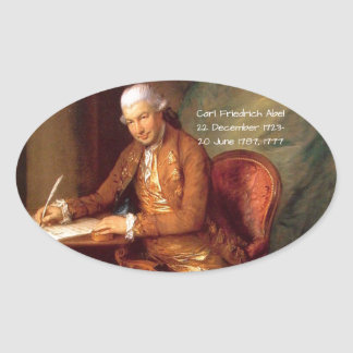 Sticker Ovale Karl Friedrich Abel