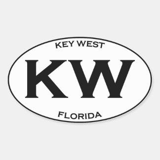 Sticker Ovale Kilowatt-Kew la Floride occidentale