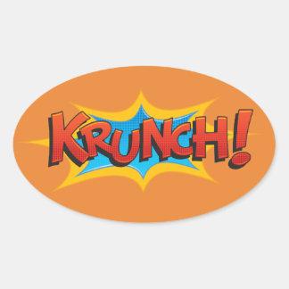 Sticker Ovale Krunch comique !