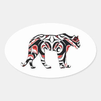 Sticker Ovale La chasseuse
