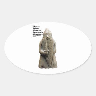 Sticker Ovale La prière d'Odin (Viking Berserker)