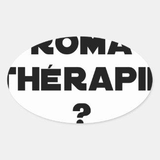Sticker Ovale LA ROMA THÉRAPIE ? - Jeux de mots - Francois Ville