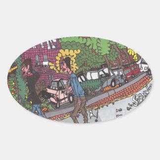 Sticker Ovale La rue de Jill