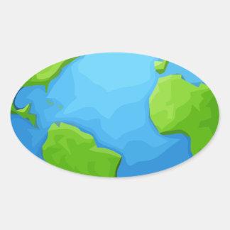 Sticker Ovale la terre