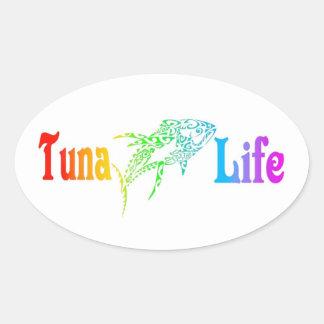 Sticker Ovale La vie de thon