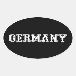 Sticker Ovale L'Allemagne