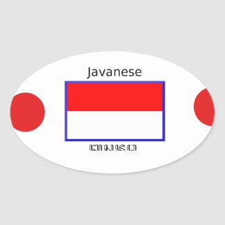 Sticker Ovale Langue de Javanese et conception indonésienne de