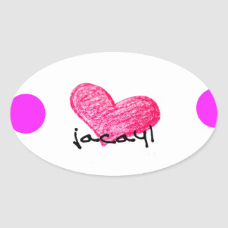 Sticker Ovale Langue somalienne de conception d'amour