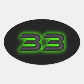 Sticker Ovale L'autocollant de 33 ovales