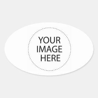Sticker Ovale Le blanc de modèle   ajoutent votre texte d'image