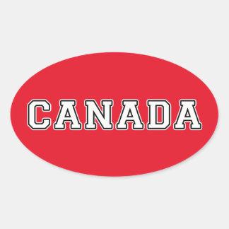 Sticker Ovale Le Canada
